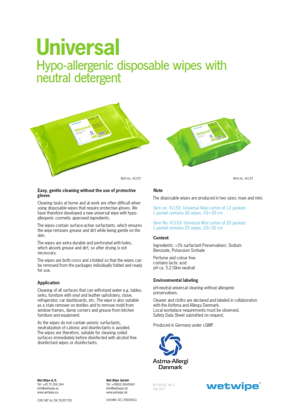 Wetwipe Environmental Hygiene Surface Cleaning Disposable Wipes