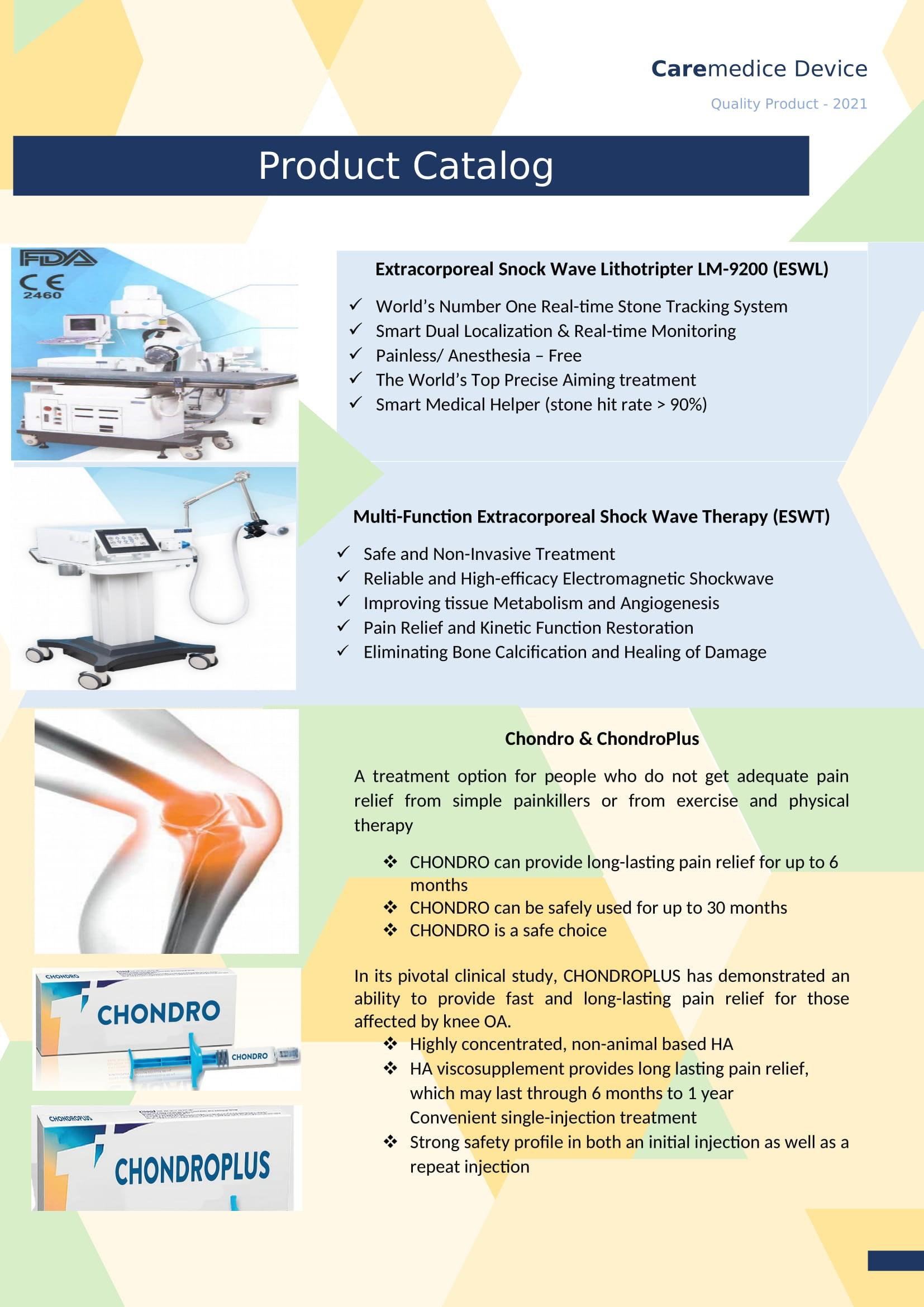 Caremedic Device Product Catalog